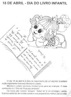 Datas Comemorativas: Dia 18/04 Dia do Livro Infantil