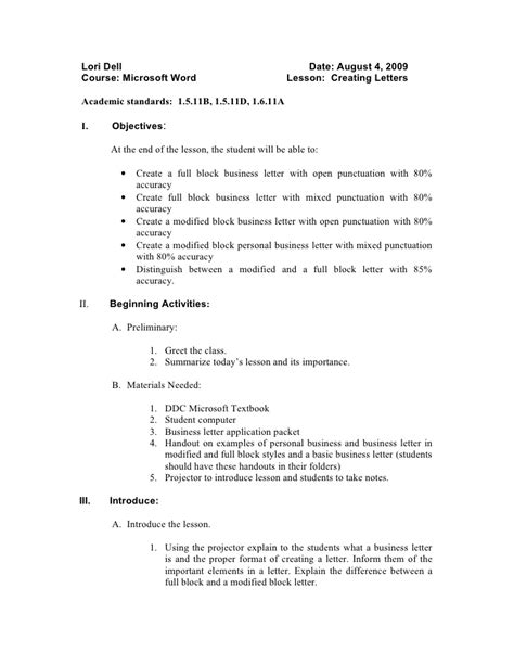 cover letter lesson plan resume cover letter lesson plan