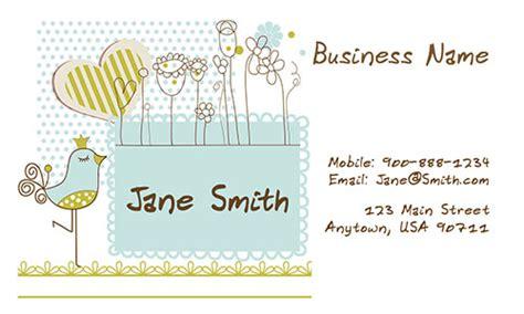 business card templates kindergarten business cards design 1101111