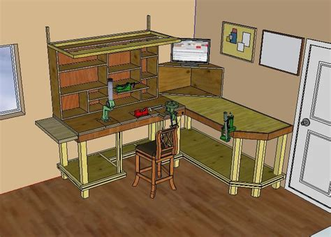 reloading bench blueprints ajo working plans for gun bench rest