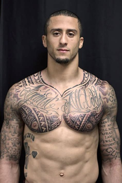 colin kaepernick tattoos nfl worst tattoos from god s gift to s boy