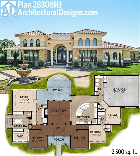 mediterranean house plan great symmetry with architectural designs mediterranean