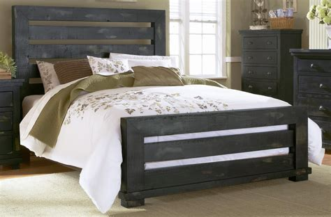 distressed black bedroom furniture willow distressed black slat bedroom set p612 60 61 78