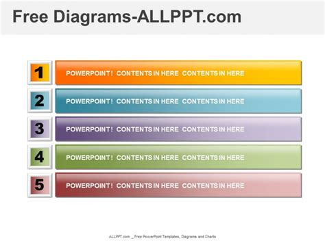 powerpoint templates for picture slideshow listing and agenda diagram ppt free