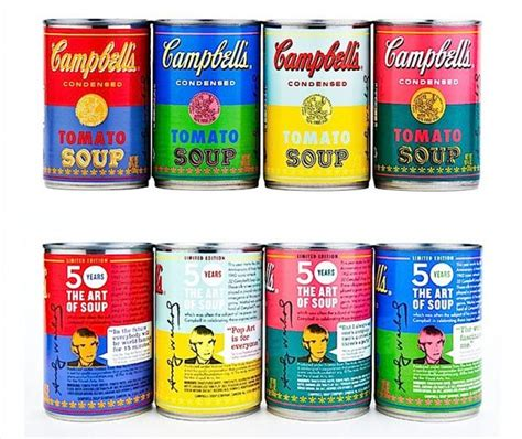 Cbell Tomato Soup Andy Warhol by Andy Warhol Pop Soup Cans The Best Cans