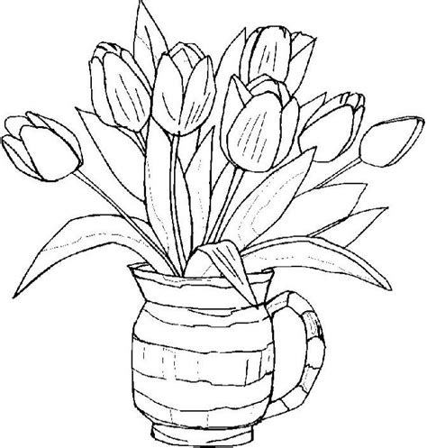 coloring pictures of tulip flowers tulips flower spring coloring pages spring day cartoon