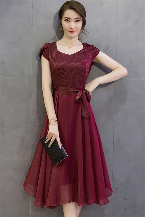 Formal Wedding Dresses Designs by Jhonpeter Silk Printed Top Bow Waist Prom Dress