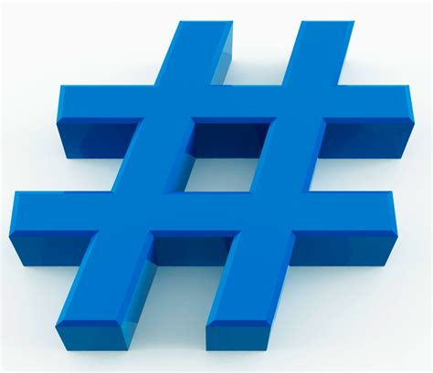 what does hashtag the value of a hashtag way to blue
