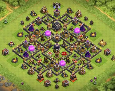 th9 base with war bomb tower 2016 top 12 best th9 farming bases anti everything 2017 bomb