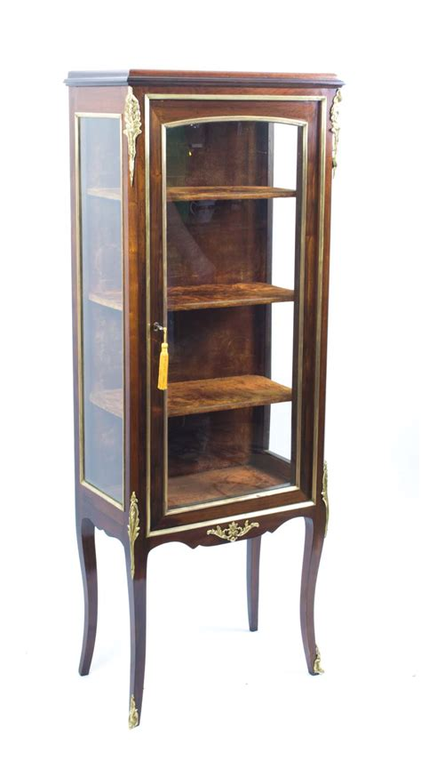 Regent Antiques   Cabinets   Antique French Mahogany Display Cabinet c.1900