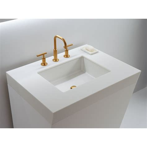 bathroom sink undermount kohler verticyl rectangular undermount bathroom sink with