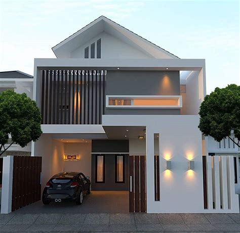 model desain rumah minimalis type   lantai elegan hums pinterest models architecture
