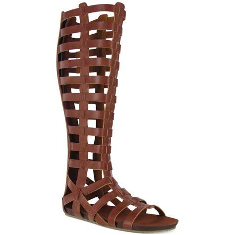 cognac gladiator sandals glitterati gladiator sandals in brown cognac lyst