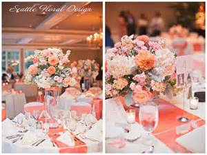 coral wedding decorations orange and silver gray decorations