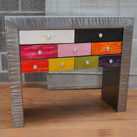 Console Commode console commode 224 tiroirs m 233 tal multico console design