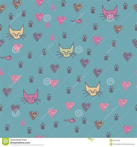 seamless pattern cats a seamless pattern of cats footprint prints stock