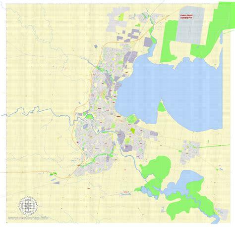 printable map geelong geelong pdf map australia printable exact vector street
