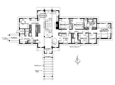 passive solar ranch house plans more passive solar hooray this one has enough bedrooms david wright architect