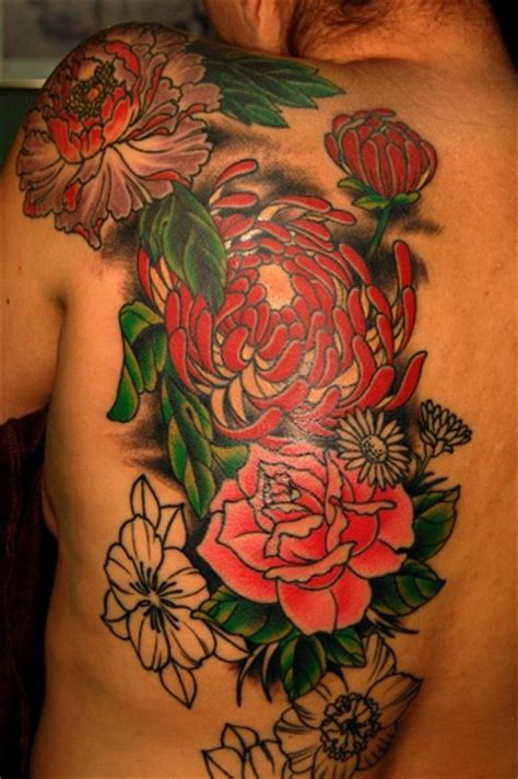 traditional asian flowers back tattoo tattoo inspiration