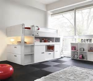 Bunk Bed With Table Underneath Back To Kids Bedrooms From Gautier