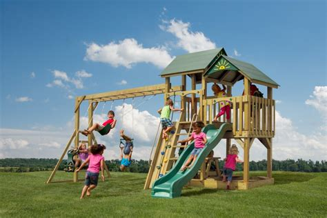 swing sets lancaster pa the safe harbor stained wood swingsets lancaster