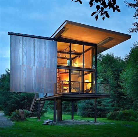 Modern Cabin Floor Plans by Homes On Stilts Nifty Homestead