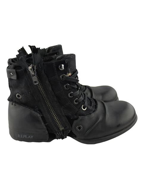 replay mens boots replay replay mens black boots replay from ghia menswear uk