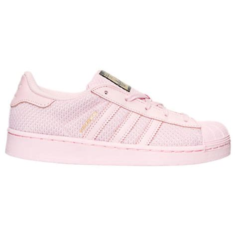 adidas preschool superstar casual shoes semi pink glow finish line all