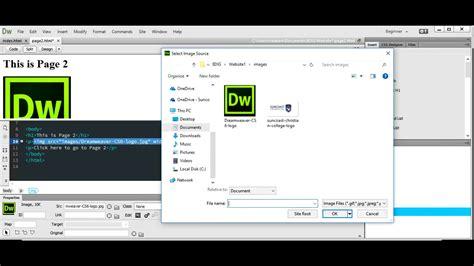 dreamweaver tutorial basic dreamweaver tutorial 1 creating a basic 2 page website