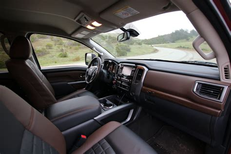 nissan truck 2016 interior 2016 nissan titan xd towing with the 5 8 ton truck