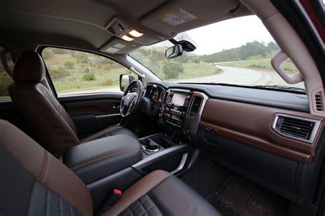 nissan titan interior 2016 2016 nissan titan xd towing with the 5 8 ton truck