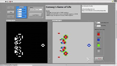 c tutorial game development labview tutorial game of life simulation youtube