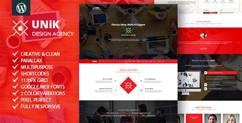 theme wordpress unik unik creative multipurpose wordpress theme teslathemes