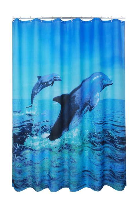 ocean life shower curtain lifelike dolphin and sea fabric shower curtain t4001 ebay