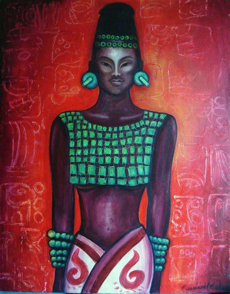 la reina roja monica mackenzie artwork la reina roja original painting acrylic abstract art
