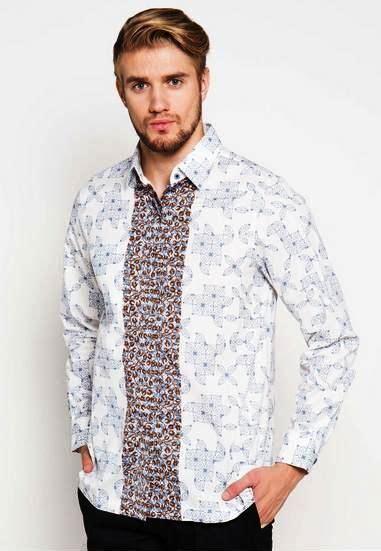 Baju Batik Pria Slim Fit Terbaru Keren Modern Hes 04 ッ 29 model baju batik pria slim fit lengan panjang pendek modern