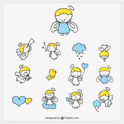 imagenes navideñas vectores angelitos ilustraciones vectores fotos y vectores gratis
