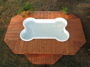 dog poo in house bone shaped doggie pool with deck pools pinterest