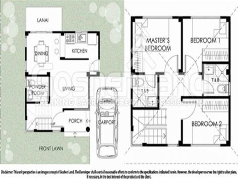 square house floor plan 100 square meters house plan 100 square foot house plans