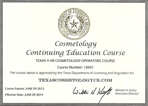 Cosmetology Requirements by Cosmetology Continuing Education Cosmetology Continuing Education