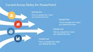 curved arrows powerpoint template slidemodel