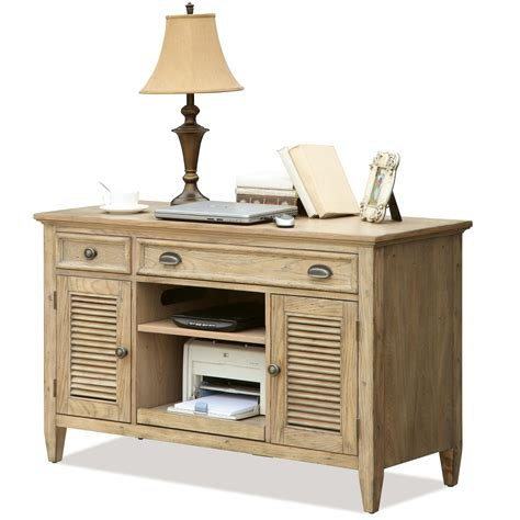 writing desk with matching credenza riverside furniture coventry 32423 shutter door credenza