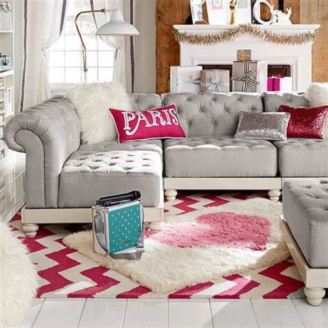 teen sofas cushy roll arm collection pbteen oh wow it looks comfy i