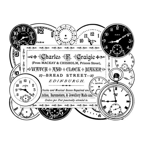 free rubber st creator crafty individuals ci 279 clock maker rubber st