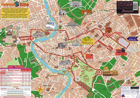 de roma plan et carte touristique de rome monuments et circuits