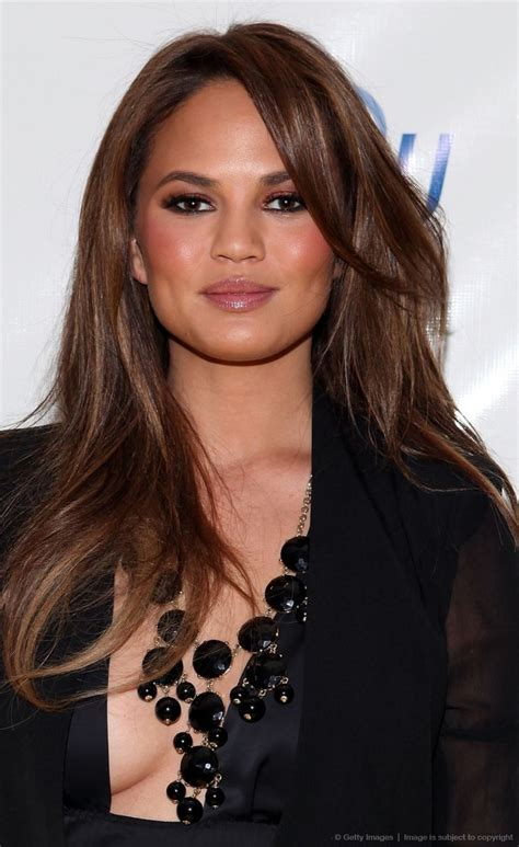 chrissy teigen hair color warm shades of brown hair colors 2017 hairdrome