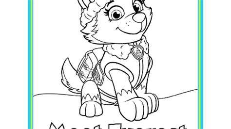 coloring pages of everest from paw patrol paw patrol paw patrol meet everest colouring pack