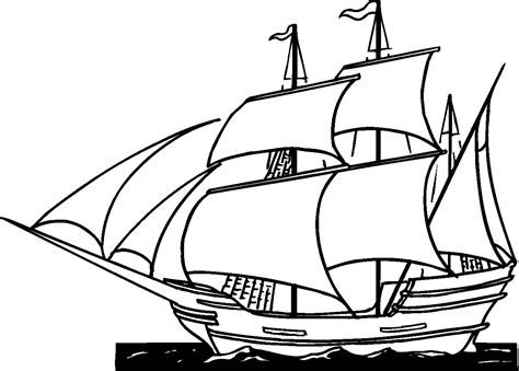 coloring pages of christopher columbus ships coloring