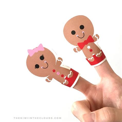 the gingerbread man printable finger puppets 17 best images about christmas on pinterest around the