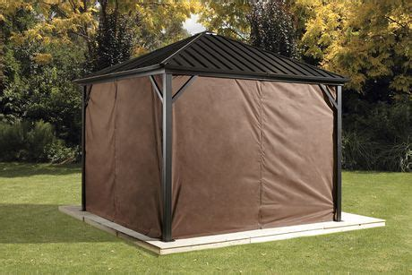Privacy Curtains For Gazebo by Sojag Dakota Gazebo Privacy Curtains Walmart Ca